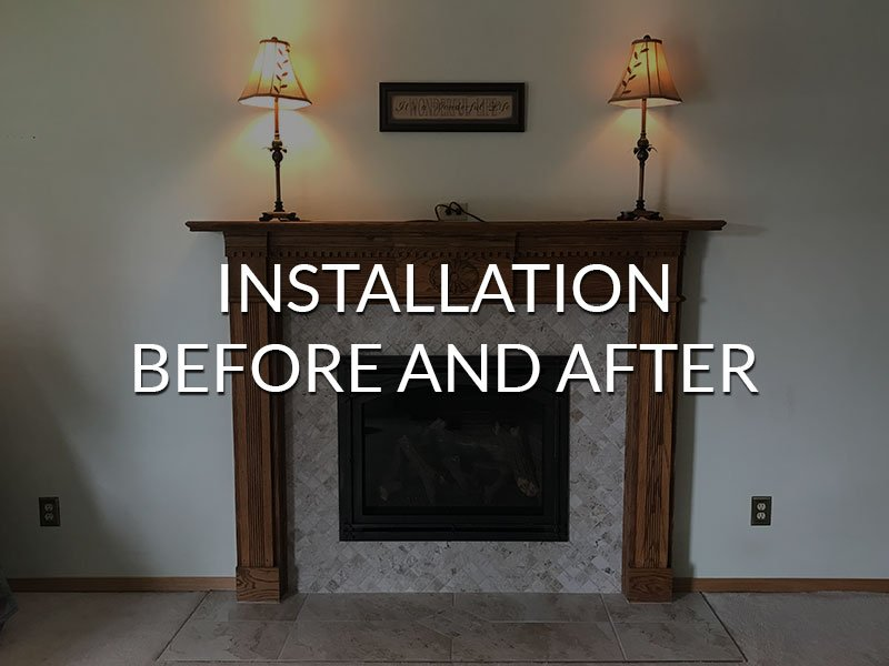 Installation Before And After
